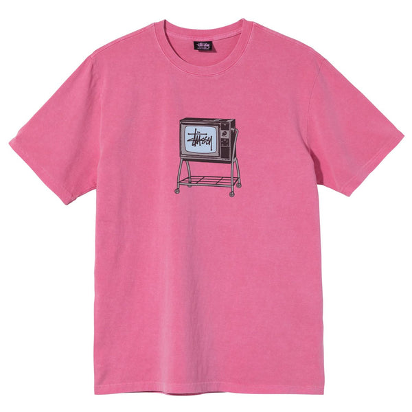ROLLING TV PIGMENT DYED TEE - PINK