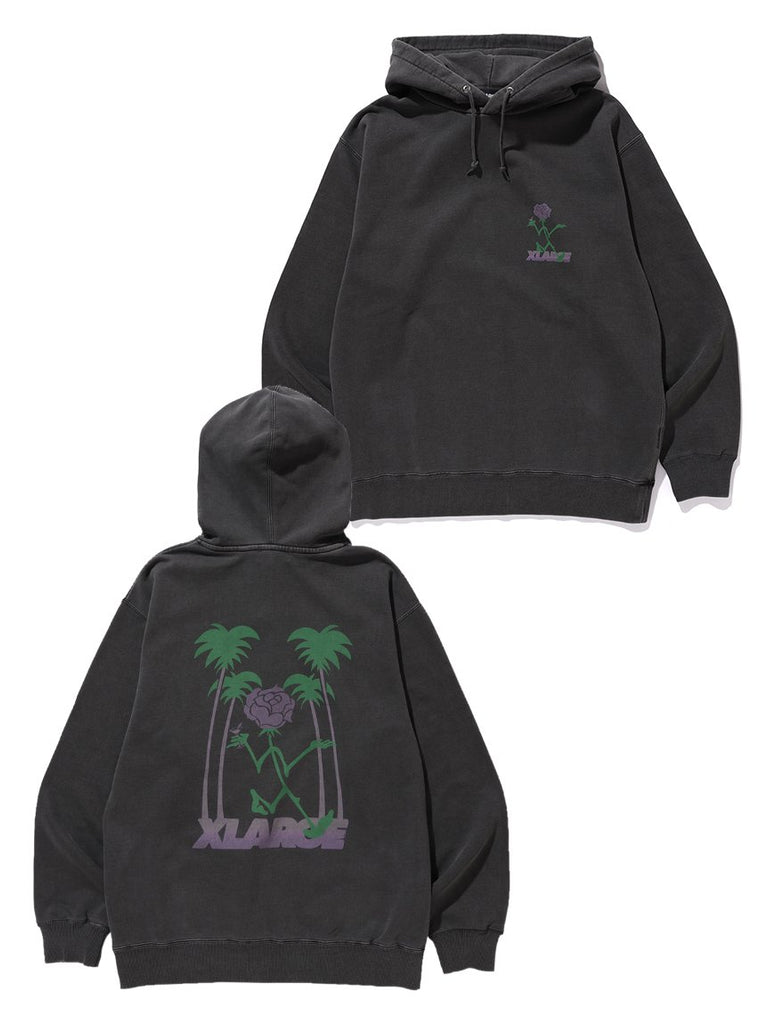 TIPSY PIGMENT PULLOVER HOODED SWEAT - CHARCOAL