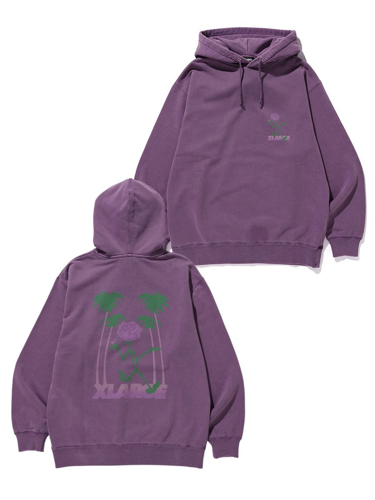 TIPSY PIGMENT PULLOVER HOODED SWEAT - PURPLE