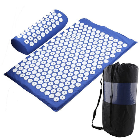 Acupressure Mat Massage Cushion with Pillow - Anytime Exercises