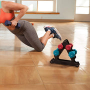 Triangle Tree Rack Dumbbell Bracket - Anytime Exercises