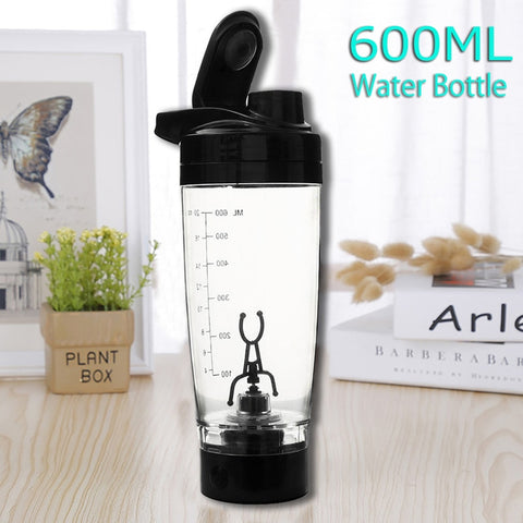 600ML  Electric Protein Shaker Bottle - Anytime Exercises