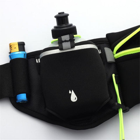 Hydration Belt Waist Pack with Bottle Holder - Anytime Exercises