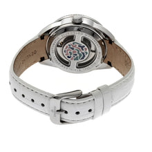 Load image into Gallery viewer, Empress Helena Leather-Band Watch w/Date - Silver/White - EMPEM1804