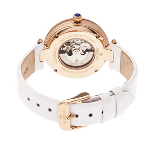 Empress Louise Automatic MOP Leather-Band Watch - Rose Gold/Silver - EMPEM2303