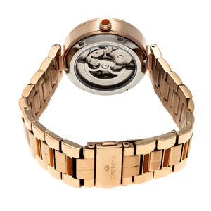 Empress Catherine Automatic Hammered Dial Bracelet Watch - Orange - EMPEM1904