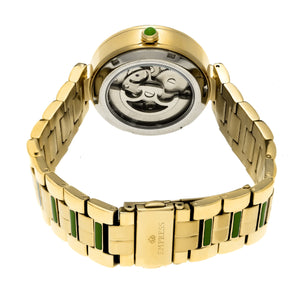 Empress Catherine Automatic Hammered Dial Bracelet Watch - Green - EMPEM1903