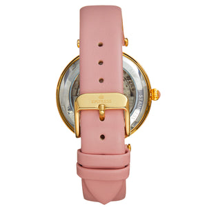 Empress Anne Automatic Semi-Skeleton Leather-Band Watch - Light Pink - EMPEM3103