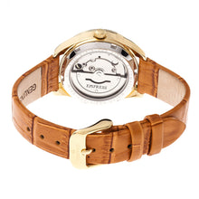 Load image into Gallery viewer, Empress Messalina Automatic MOP Leather-Band Watch w/Date - Camel - EMPEM2403