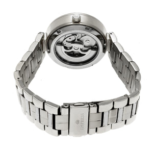 Empress Catherine Automatic Hammered Dial Bracelet Watch - Silver - EMPEM1901