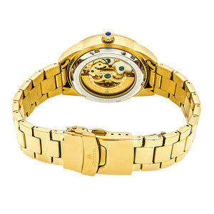 Empress Godiva Automatic MOP Bracelet Watch - Gold/White - EMPEM1104