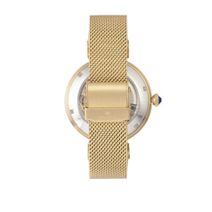 Empress Adelaide Automatic Skeleton Mesh-Bracelet Watch - Gold - EMPEM2502