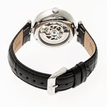 Load image into Gallery viewer, Empress Stella Automatic Semi-Skeleton MOP Leather-Band Watch - Black/White - EMPEM2101