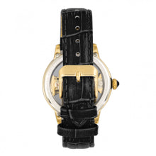 Load image into Gallery viewer, Empress Rania Mechanical Semi-Skeleton Leather-Band Watch - Black - EMPEM2801