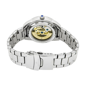 Empress Godiva Automatic MOP Bracelet Watch - Silver/Black - EMPEM1102