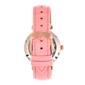 Empress Edith Semi-Skeleton Leather-Band Watch - Pink - EMPEM3306