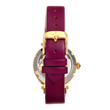 Load image into Gallery viewer, Empress Alouette Automatic Semi-Skeleton Leather-Band Watch - Fuschia - EMPEM3401
