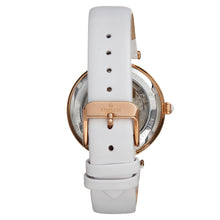 Load image into Gallery viewer, Empress Anne Automatic Semi-Skeleton Leather-Band Watch - White - EMPEM3104