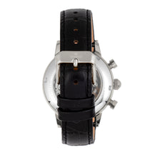 Load image into Gallery viewer, Empress Beatrice Automatic Skeleton Dial Leather-Band Watch w/Day/Date - Silver/Black - EMPEM2002