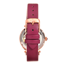 Load image into Gallery viewer, Empress Alouette Automatic Semi-Skeleton Leather-Band Watch - Pink - EMPEM3406