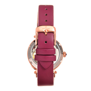 Empress Alouette Automatic Semi-Skeleton Leather-Band Watch - Pink - EMPEM3406