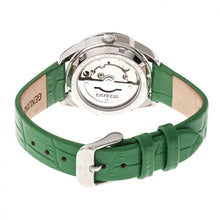Load image into Gallery viewer, Empress Messalina Automatic MOP Leather-Band Watch w/Date - Green - EMPEM2402