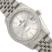 Load image into Gallery viewer, Empress Constance Automatic Bracelet Watch w/Date - Silver/White - EMPEM1501