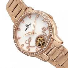 Load image into Gallery viewer, Empress Quinn Automatic MOP Semi-Skeleton Dial Bracelet Watch - Rose Gold - EMPEM2703
