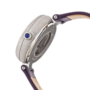 Empress Louise Automatic MOP Leather-Band Watch - Purple - EMPEM2302