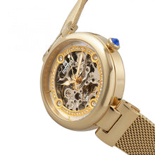 Load image into Gallery viewer, Empress Adelaide Automatic Skeleton Mesh-Bracelet Watch - Gold - EMPEM2502