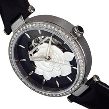 Load image into Gallery viewer, Empress Anne Automatic Semi-Skeleton Leather-Band Watch - Black - EMPEM3101