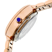 Load image into Gallery viewer, Empress Catherine Automatic Hammered Dial Bracelet Watch - Blue - EMPEM1905