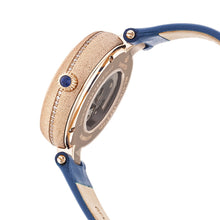 Load image into Gallery viewer, Empress Louise Automatic MOP Leather-Band Watch - Blue - EMPEM2305