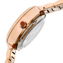 Load image into Gallery viewer, Empress Catherine Automatic Hammered Dial Bracelet Watch - Orange - EMPEM1904