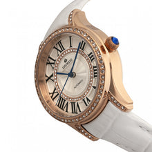 Load image into Gallery viewer, Empress Xenia Automatic Leather-Band Watch - White - EMPEM2604