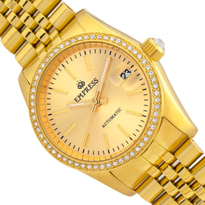 Empress Constance Automatic Bracelet Watch w/Date - Gold - EMPEM1508