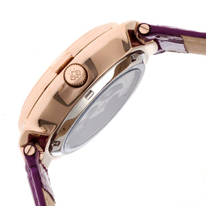 Empress Francesca Automatic MOP Leather-Band Watch - Fuschia - EMPEM2206
