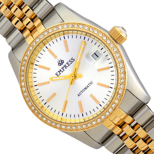 Empress Constance Automatic Bracelet Watch w/Date - Gold/White - EMPEM1505