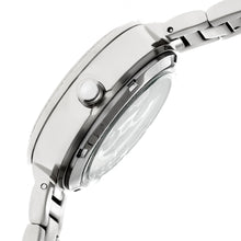 Load image into Gallery viewer, Empress Catherine Automatic Hammered Dial Bracelet Watch - Silver - EMPEM1901