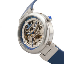 Load image into Gallery viewer, Empress Adelaide Automatic Skeleton Leather-Band Watch - Blue   - EMPEM2505