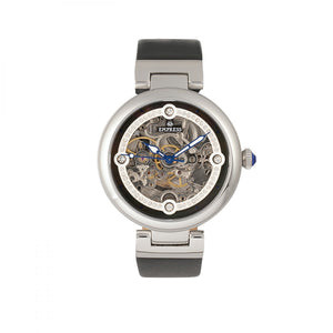 Empress Adelaide Automatic Skeleton Leather-Band Watch - Black - EMPEM2504