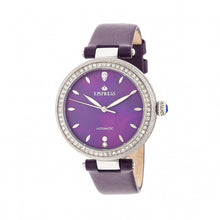 Load image into Gallery viewer, Empress Louise Automatic MOP Leather-Band Watch - Purple - EMPEM2302
