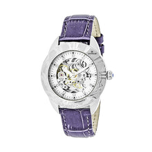 Load image into Gallery viewer, Empress Godiva Automatic MOP Leather-Band Watch - Silver/White - EMPEM1105