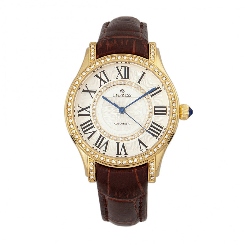 Empress Xenia Automatic Leather-Band Watch