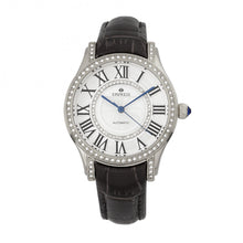 Load image into Gallery viewer, Empress Xenia Automatic Leather-Band Watch - Black - EMPEM2601