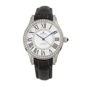 Empress Xenia Automatic Leather-Band Watch - Black - EMPEM2601