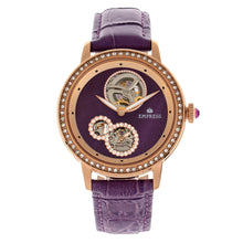 Load image into Gallery viewer, Empress Tatiana Automatic Semi-Skeleton Leather-Band Watch - Purple - EMPEM2905