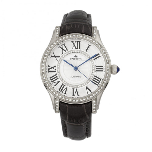 Empress Xenia Automatic Leather-Band Watch - EMPEM2601