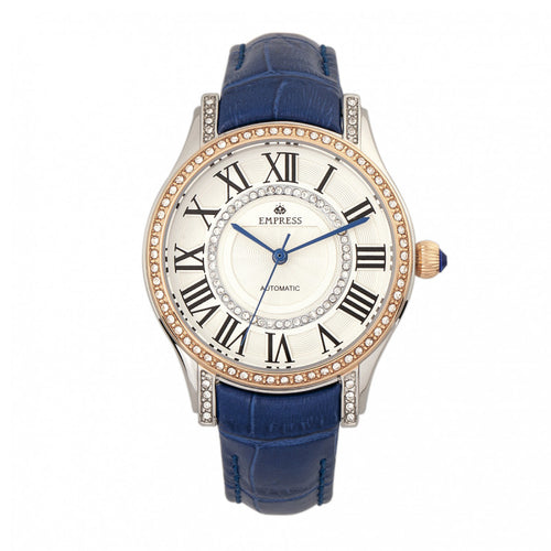 Empress Xenia Automatic Leather-Band Watch - EMPEM2602