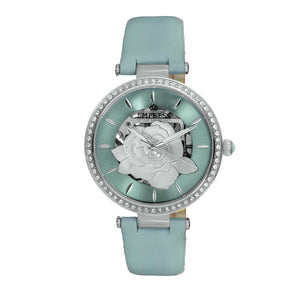 Empress Anne Automatic Semi-Skeleton Leather-Band Watch - Mint - EMPEM3102
